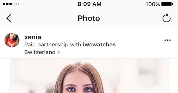 Estensione del tool per i contenuti brandizzati su Instagram