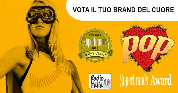 Superbrands lancia con Radio Italia il Superbrands POP Award