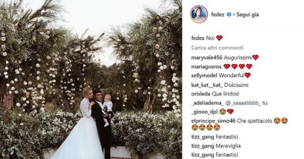 Sbancato Instagram: oltre 32 milioni di interazioni per le nozze dei Ferragnez