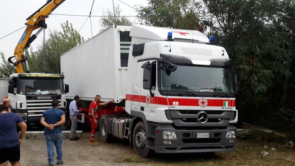 Spencer & Lewis con Container Home Italia e Olimpia Agency per CRI ad Amatrice