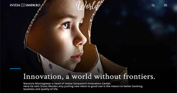 World.intesasanpaolo.com on line con Saatchi & Saatchi