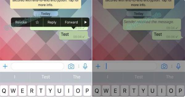 Con Revoke di WhatsApp si potranno cancellare i messaggi inviati