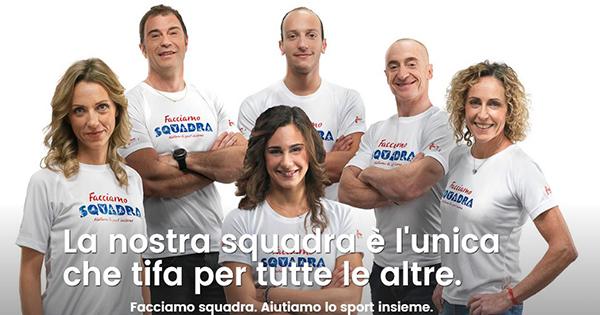 Facciamo Squadra: dal 12 Gennaio con Iper, La grande i gli amici dello sport italiano fanno sentire il loro cuore