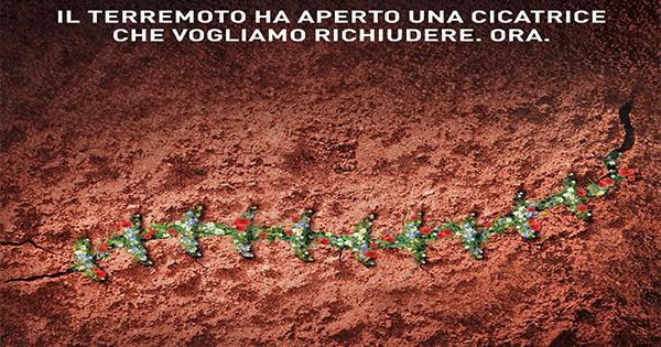 Perugina e Armando Testa insieme per ricucire la ferita del terremoto in Umbria