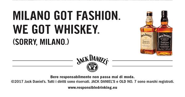 Jack Daniel's presenta la speciale iniziativa adv in occasione di Milano Moda Donna