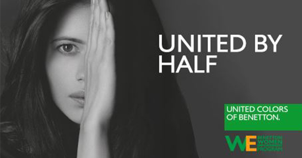 #UnitedByHalf: Benetton lancia una campagna sulla parità di genere in India