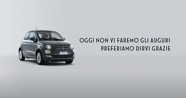 Un «Grazie!» da Fiat 500 per la Festa della Donna
