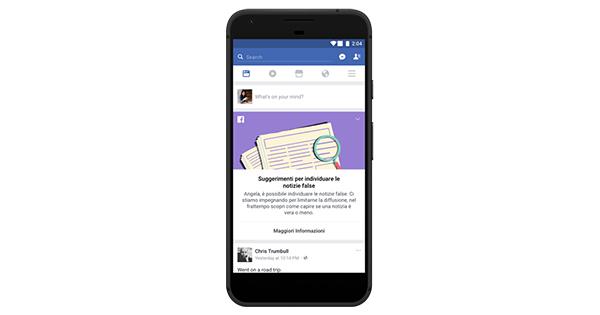 Facebook lancia un nuovo strumento educativo contro la disinformazione