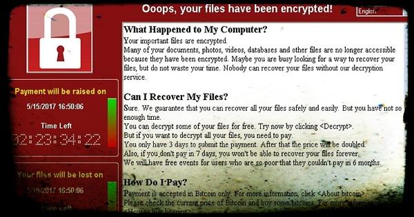 Attenzione a WannaCry, il super virus che terrorizza gli internauti