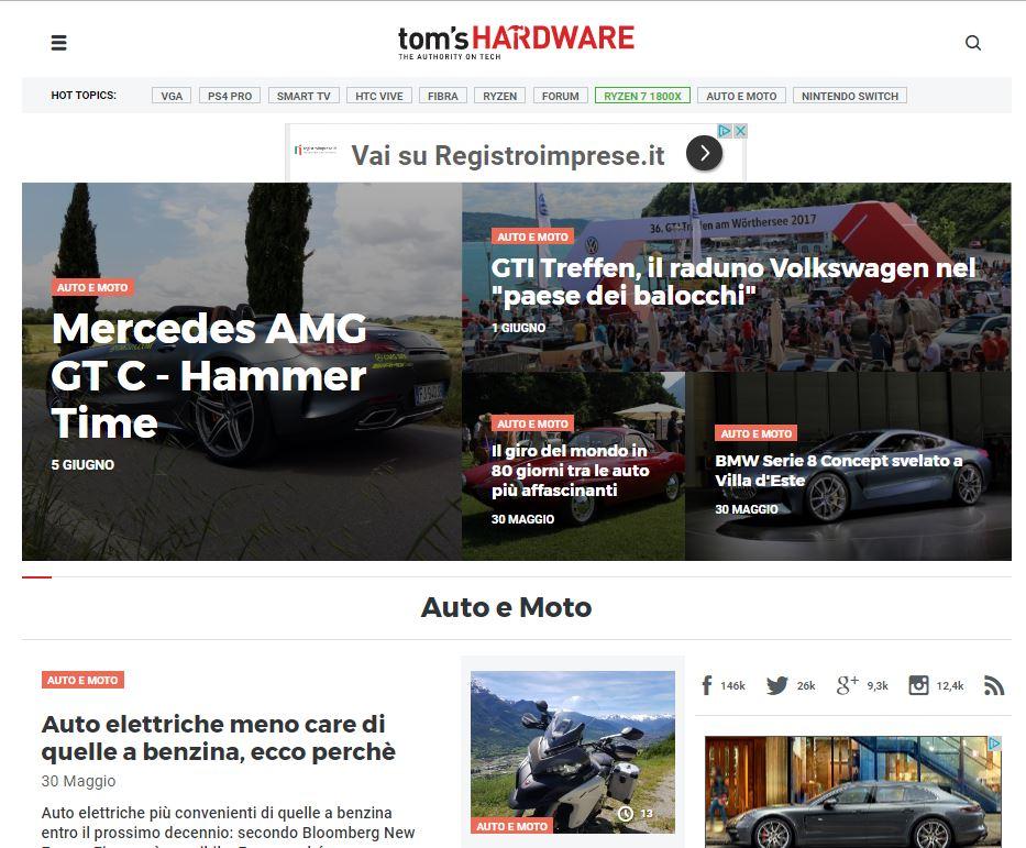 Tom's Hardware annuncia il lancio della sezione motori