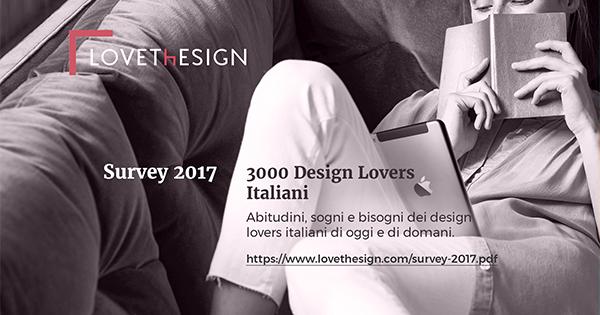 LOVEThESIGN: abitudini, sogni e bisognidei design lovers italiani