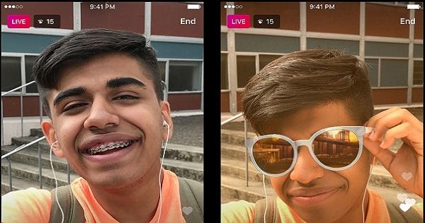 Instagram introduce i filtri facciali nei video in diretta
