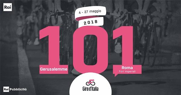 Rai Pubblicità presenta l'offerta commerciale per il Giro d'Italia 2018