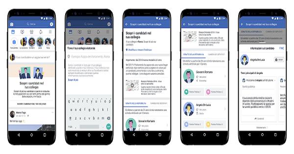 """Facebook lancia in Italia """"Candidati"""" per arrivare preparati alle Elezioni del 4 marzo"""
