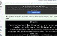 Stop di Wikipedia in Italia: protesta contro la legge UE sul copyright