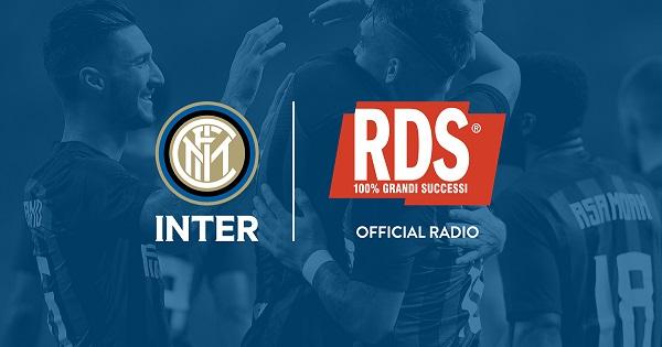 RDS 100% Grandi Successi è la nuova Official Radio di FC Internazionale Milano