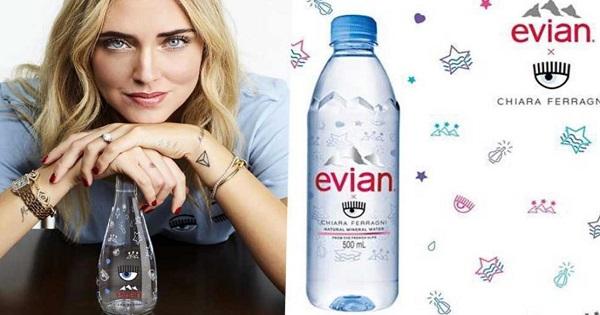 L'acqua Evian firmata da Chiara Ferragni sbanca ma scatena le ire del web