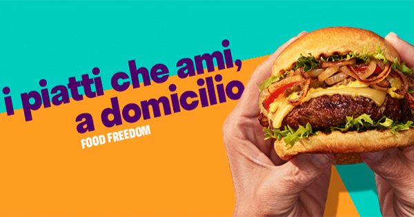 Deliveroo: la campagna Food Freedom arriva in Italia
