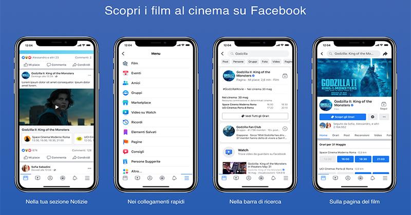 Facebook Film arriva in Italia. E anche il cinema diventa un'esperienza social