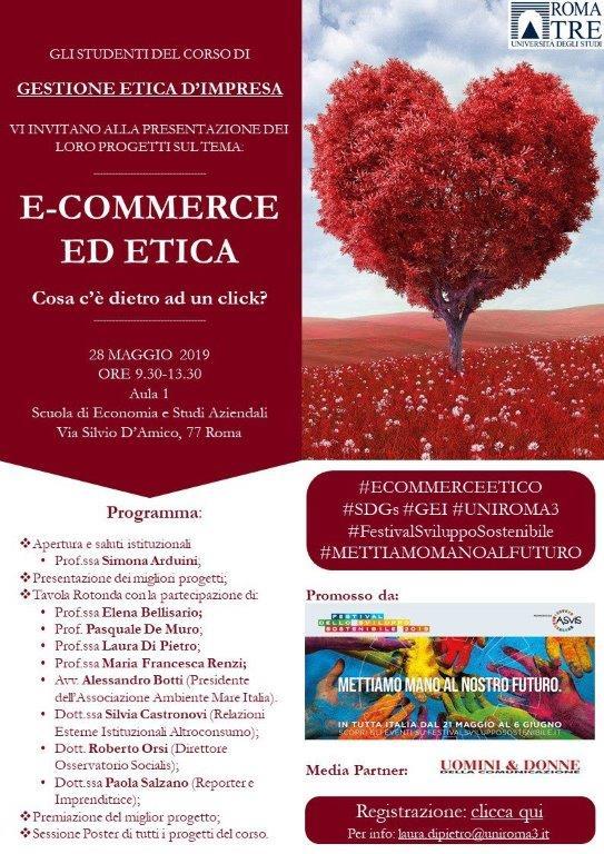 locandina evento e-commerce ed etica