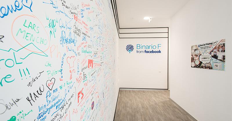 Facebook amplia Binario F, lo spazio dedicato alla formazione digitale