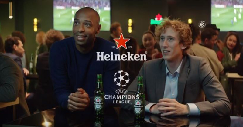 On air la nuova campagna Heineken Uefa Champions League #BetterTogether