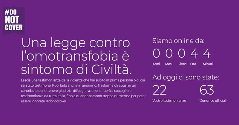 dilloagiulia.it: via alla campagna di comunicazione contro l'omotransfobia