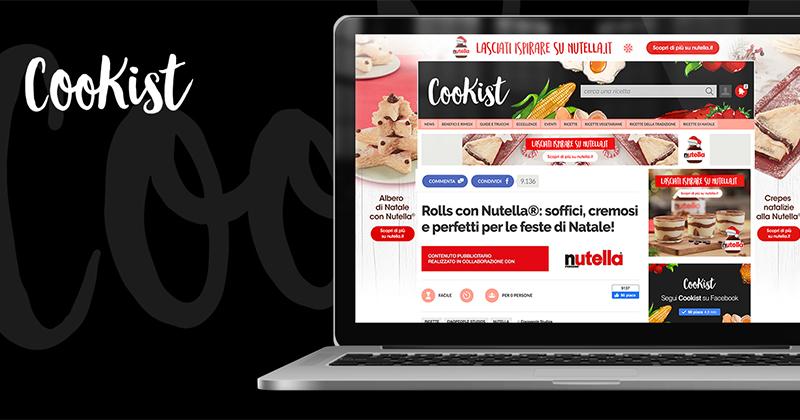 Ferrero sceglie Cookist per la content strategy di Nutella