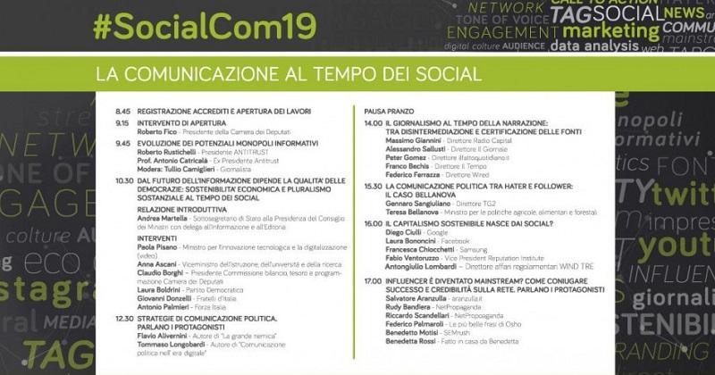 Un grande successo anche per la quinta edizione di SocialCom 2019