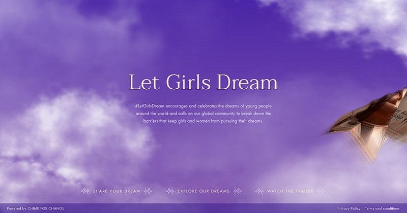 #LetGirlsDream: Chime for Change dà voce ai sogni con Low