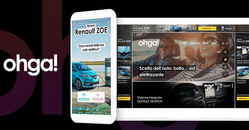 Renault sceglie Ohga per il lancio digital dell'auto elettrica Nuova ZOE