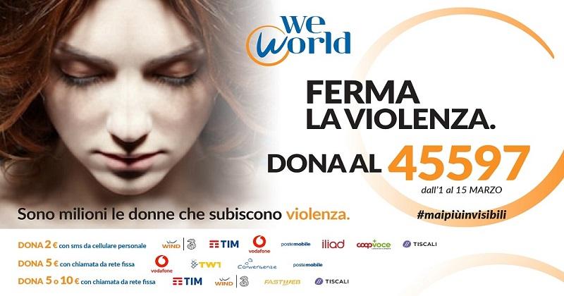 #MaipiùInvisibili: per l'8 marzo WeWorld lancia la campagna contro la violenza sulle donne