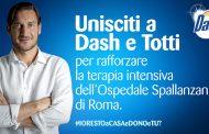 Totti e Dash lanciano la raccolta fondi per lo Spallanzani di Roma