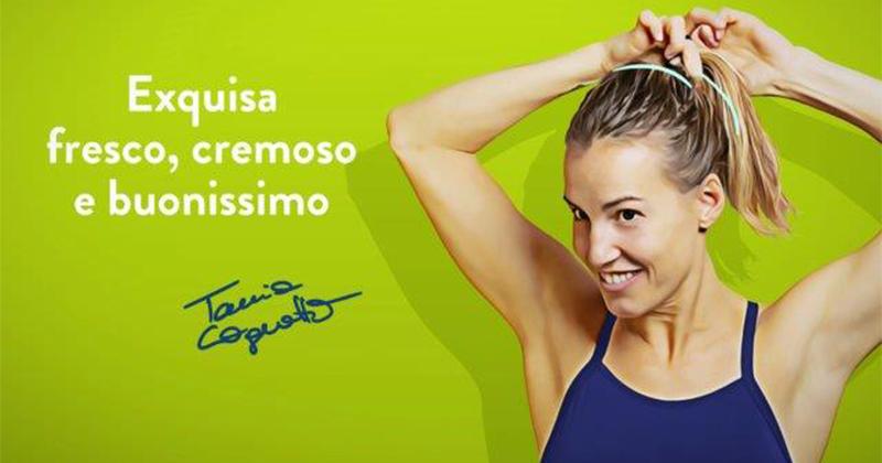 Exquisa debutta in TV con uno spot con Tania Cagnotto
