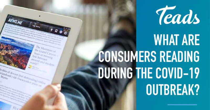 Il consumo dei contenuti editoriali online in tempo di Coronavirus: i dati di Teads
