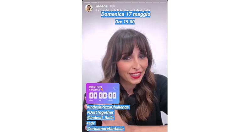 Indesit lancia Pizza Challenge con Benedetta Parodi