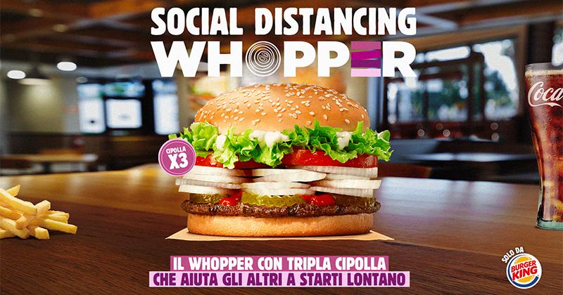 Fase 2: Burger King riapre al pubblico con il panino che aiuta gli altri a starti lontano