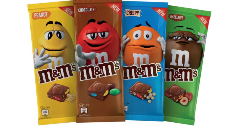 Tavolette di cioccolato M&M's: la rivoluzione Mars in arrivo a fine agosto