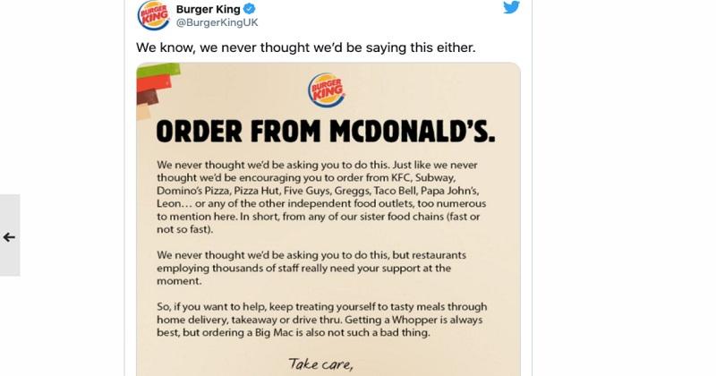 Burger King e il marketing solidale: