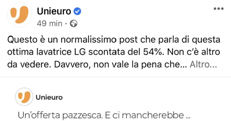 Il social media manager di Unieuro è ufficialmente impazzito