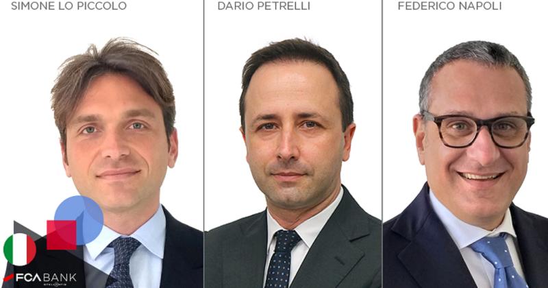 FCA Bank annuncia tre nuove nomine all'interno del Gruppo