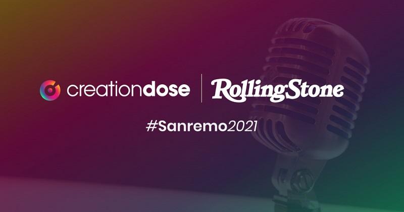 CreationDose firma la campagna di Rolling Stone per Sanremo
