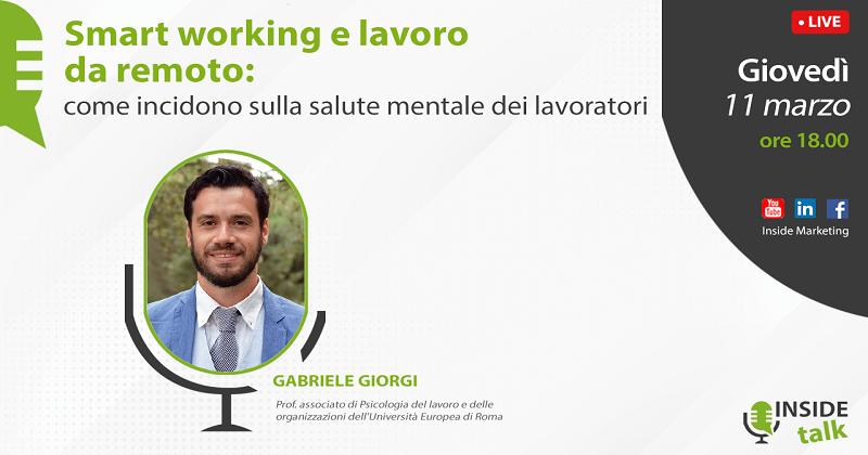 Gli effetti dello smart working sulla salute mentale dei lavoratori