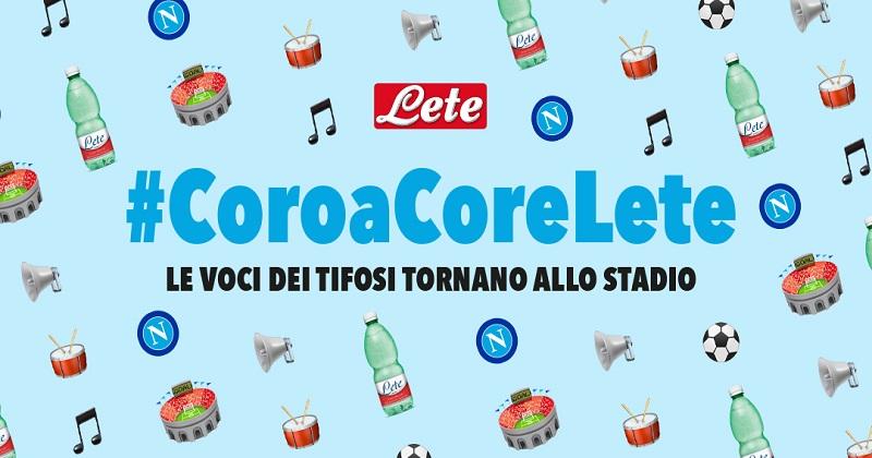 Coro a Core: con Acqua Lete le voci dei tifosi tornano allo stadio Diego Armando Maradona