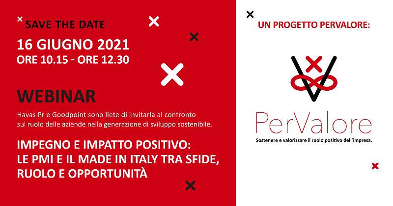 Havas Pr E Goodpoint presentano PerValore, un progetto rivolto alle PMI