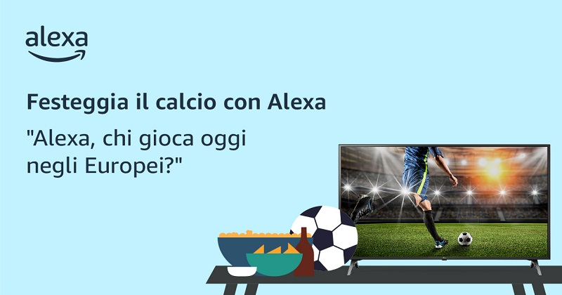 Amazon Alexa: le iniziative per gli Europei di calcio