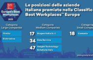 Svelata la classifica delle migliori aziende per cui lavorare in Europa nel 2021