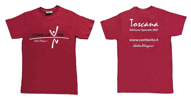 Corri la vita: dal 1° settembre in vendita la t-shirt di Salvatore Ferragamo